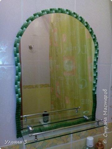 Зеркало выложено мозаикой. фото 1