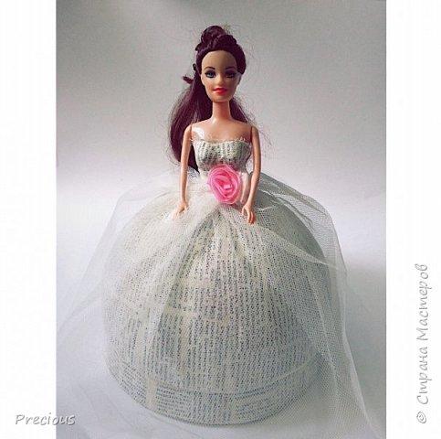 Кукла-шкатулка в технике папье-маше. Станет замечательным подарком на любое торжество.