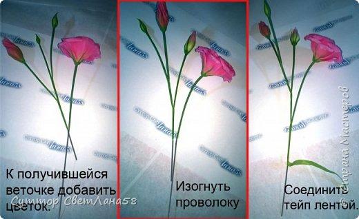 МК. Эустома из ХФ. Сборка веточки.  фото 8