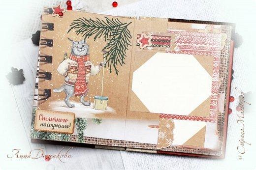 Всем большой привет! Сделала еще один альбомчик. Недавно открыла для себя новогоднюю бумагу от производителя АртУзор. Она такая классная оказалась. И отлично подошла для зимнего мини альбомчика.  фото 8