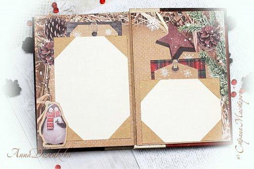 Всем большой привет! Сделала еще один альбомчик. Недавно открыла для себя новогоднюю бумагу от производителя АртУзор. Она такая классная оказалась. И отлично подошла для зимнего мини альбомчика.  фото 9