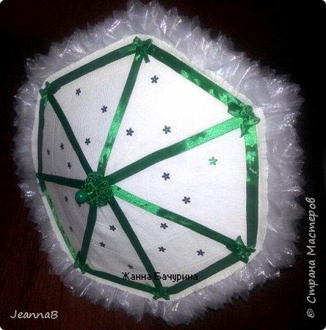Здравствуйте, жители страны! представляю на ваш суд свой зонтик, хотелось создать что-то необычное, вот и родился он! диаметр 40 см фото 6