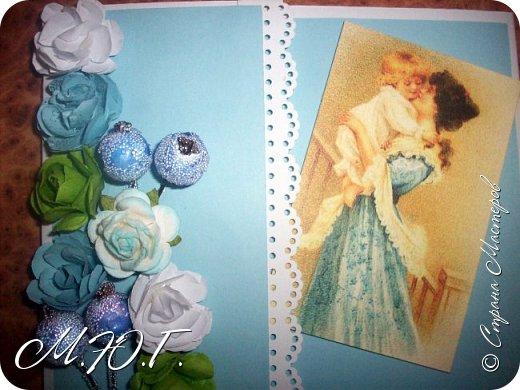 Доброй ночи,вот такие открыточки у меня получились) Идея была подсмотрена у Анастасии http://stranamasterov.ru/user/89486 ,Спасибо вам за такую красоту! фото 2