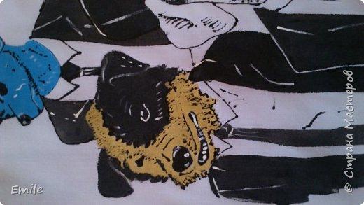 Рубашка мужская, молодежная. Роспись акриловыми красками по ткани и контурные краски по ткани фото 4