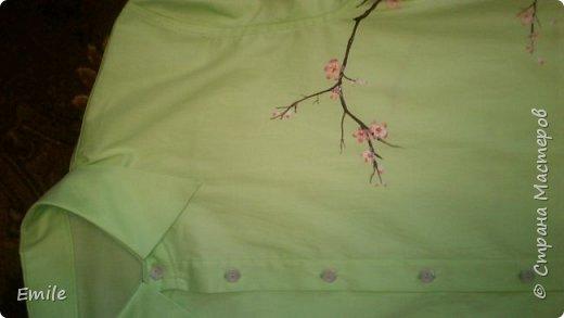Роспись красками по ткани мужской рубашки фото 1