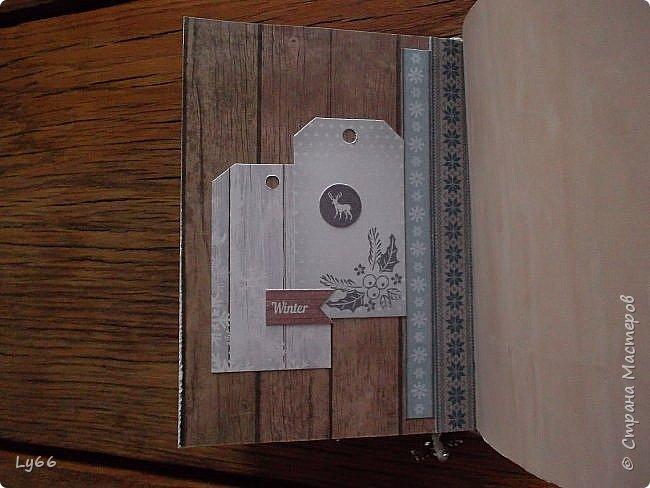 Добрый день, дорогие жители Страны! Как и обещала, показываю еще один блокнотик.  Буду краткой - А6, 120 листов, тонированных в кофе со специями, 2 разделителя. Крепление на резинку, закладочка. фото 9