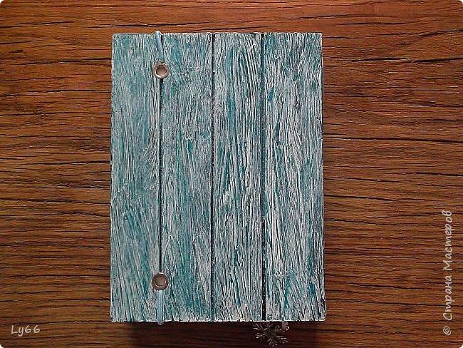 Добрый день, дорогие жители Страны! Как и обещала, показываю еще один блокнотик.  Буду краткой - А6, 120 листов, тонированных в кофе со специями, 2 разделителя. Крепление на резинку, закладочка. фото 10