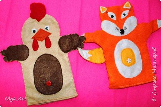 И еще рукавички для кукольного театра (ДЕД,БАБКА. ВОЛК,ЛИСА, ЗАЯЦ, КУРОЧКА, КОЛОБОК,МЕДВЕДЬ) фото 3