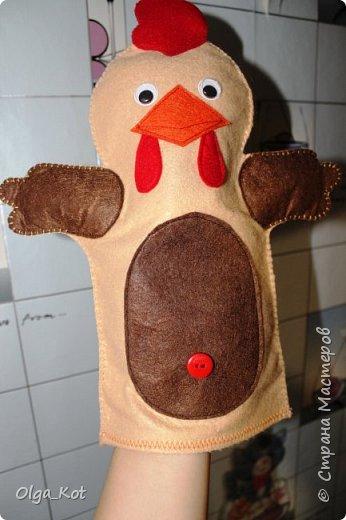 И еще рукавички для кукольного театра (ДЕД,БАБКА. ВОЛК,ЛИСА, ЗАЯЦ, КУРОЧКА, КОЛОБОК,МЕДВЕДЬ) фото 5