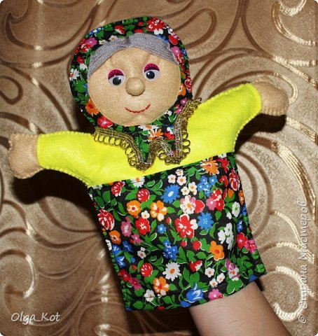 И еще рукавички для кукольного театра (ДЕД,БАБКА. ВОЛК,ЛИСА, ЗАЯЦ, КУРОЧКА, КОЛОБОК,МЕДВЕДЬ) фото 8