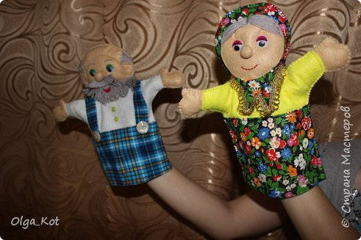 И еще рукавички для кукольного театра (ДЕД,БАБКА. ВОЛК,ЛИСА, ЗАЯЦ, КУРОЧКА, КОЛОБОК,МЕДВЕДЬ) фото 7