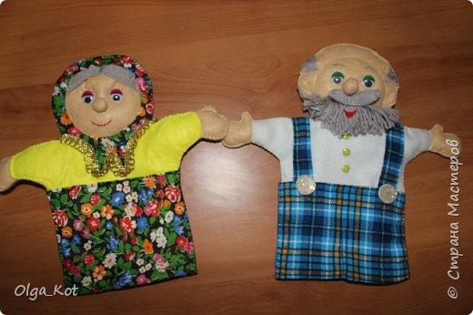 И еще рукавички для кукольного театра (ДЕД,БАБКА. ВОЛК,ЛИСА, ЗАЯЦ, КУРОЧКА, КОЛОБОК,МЕДВЕДЬ) фото 10