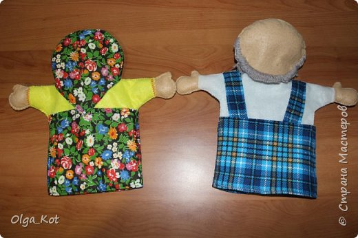 И еще рукавички для кукольного театра (ДЕД,БАБКА. ВОЛК,ЛИСА, ЗАЯЦ, КУРОЧКА, КОЛОБОК,МЕДВЕДЬ) фото 11