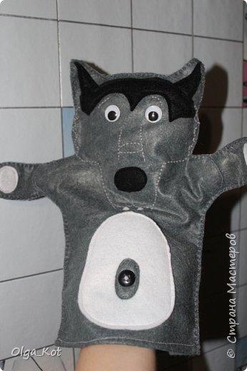 И еще рукавички для кукольного театра (ДЕД,БАБКА. ВОЛК,ЛИСА, ЗАЯЦ, КУРОЧКА, КОЛОБОК,МЕДВЕДЬ) фото 14
