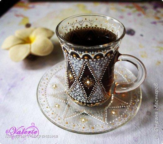 МК Точечная роспись чайной пары фото 1