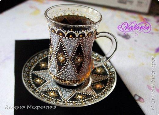 МК Точечная роспись чайной пары фото 3