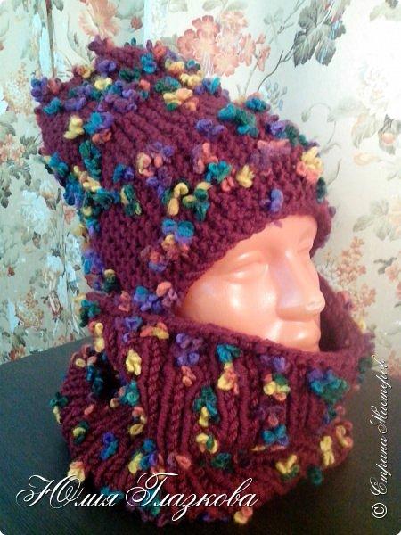 Зимние комплекты: шапочка и снуд фото 1