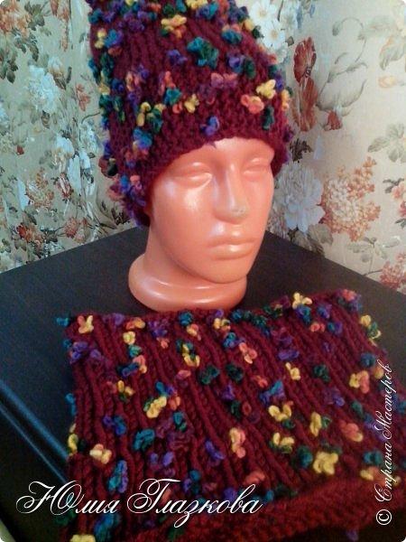 Зимние комплекты: шапочка и снуд фото 2