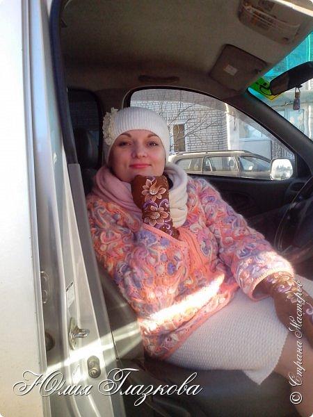 Связалась шапочка  с кружевом к зимнему наряду. фото 6