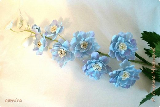 Всем приветик, я с новым букетиком! Захотелось мне слепить Цимбидиумы, но молдов подходящих не оказалось и получился новый сорт орхидеи. фото 6