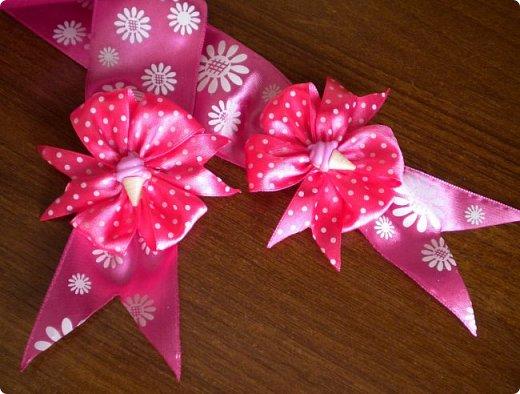 опять сделала розовый бант на выписку. точнее надоело мне делать розовые, остановилась на малиновом фото 3