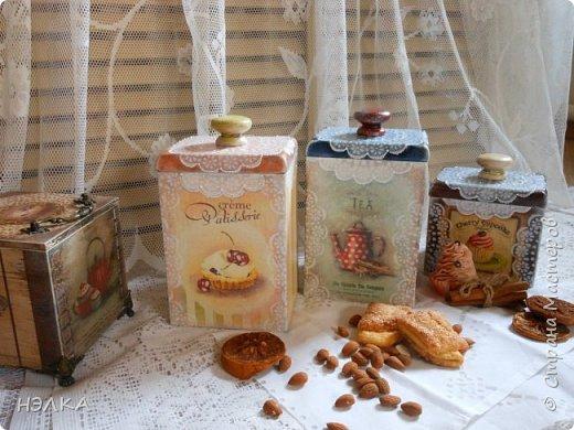 Здравствуйте,девочки!!! Эти коробочки мне присылала Вера /Мадамочка/ из Белоруссии     и долго они ждали своего часа и вот дождались,посетила муза,как их сделать. фото 23