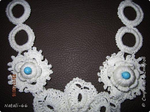 Привет всем моим соседям! Хочу показать вам еще одну пробу пера , еще одно украшение фантазийное и экпериментальное)) , выполнено из простых белых швейных ниток. фото 2
