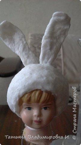 Ватная игрушка Мальчик-Зайчик сделан в стиле старых ватных игрушек.  фото 6