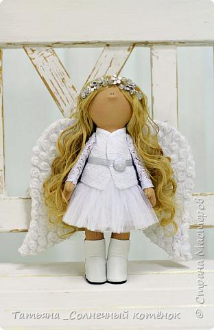 Текстильная куколка-ангелочек Анжела  фото 1