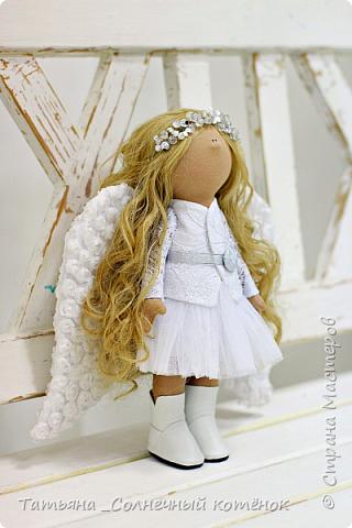 Текстильная куколка-ангелочек Анжела  фото 3