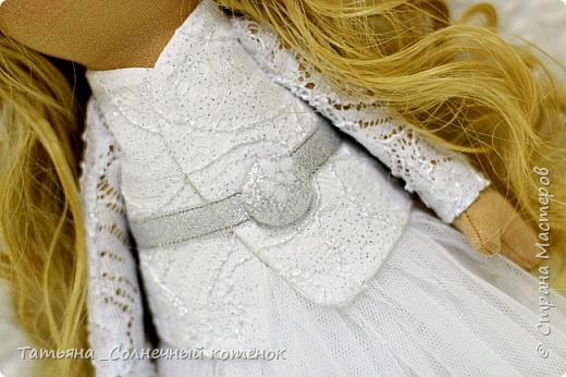 Текстильная куколка-ангелочек Анжела  фото 2