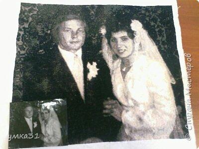 Это вышито по свадебной фотографии, моих родителей.   фото 2
