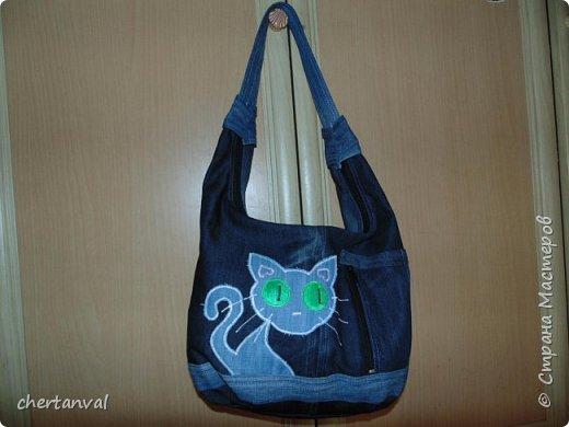рюкзак шился для поездки в Киев.использованы джинсы 3-х видов и х/б рубашка на подклад фото 4
