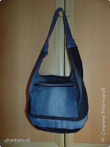 рюкзак шился для поездки в Киев.использованы джинсы 3-х видов и х/б рубашка на подклад фото 5