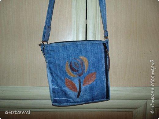 рюкзак шился для поездки в Киев.использованы джинсы 3-х видов и х/б рубашка на подклад фото 6