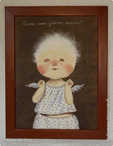 """Нарисовала несколько картин-копий Е. Гапчинской. С некоторыми изменениями оригиналов. Есть и придуманный мной персонаж по мотивам картин Гапчинской. Итак, первая картина """"Жук в коробочке..."""". Немного изменен фон. фото 4"""