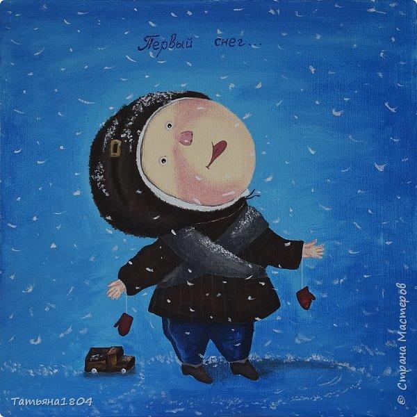 """Нарисовала несколько картин-копий Е. Гапчинской. С некоторыми изменениями оригиналов. Есть и придуманный мной персонаж по мотивам картин Гапчинской. Итак, первая картина """"Жук в коробочке..."""". Немного изменен фон. фото 7"""