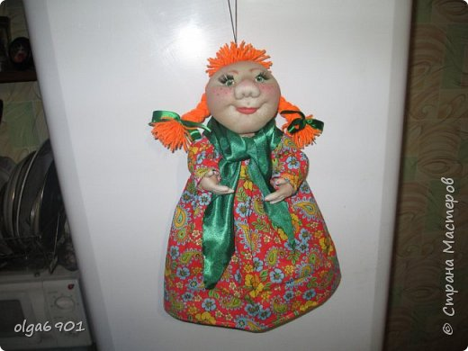 Здравствуйте, дорогие мои жители Страны! Сегодня я к вам с куклами. Знакомьтесь.  Это бабушка с корзинкой - пакетница. фото 4