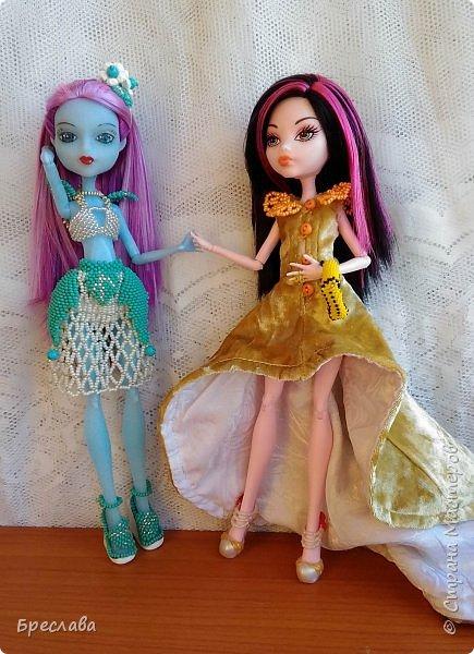 Опять участвовала в игре на сайте Багиры. В этот раз основным подарком было сшитое платье, ибо условием игры было наличие осенних цветов. А зелёный костюмчик в дополнение сплела фото 2