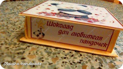 Шоколадный комплимант для любителей пандочек) фото 2