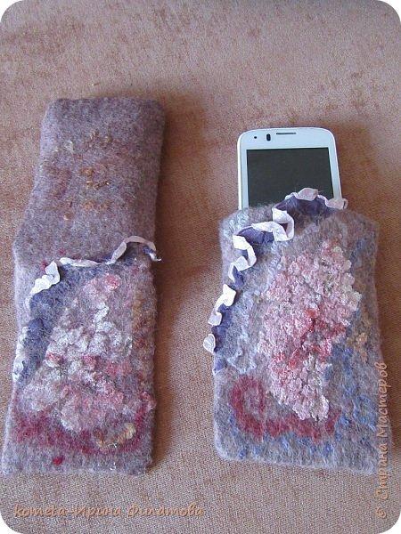 В пару к своей сумочке сваляла чехол к мобильному фото 2