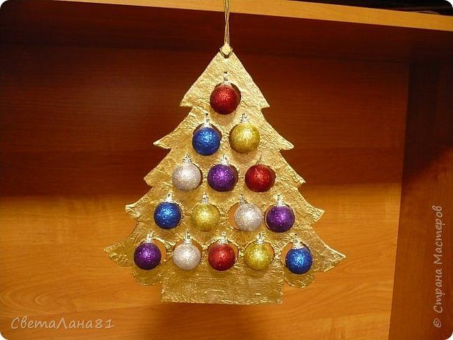 Доброе утро Всем! Хочу показать МК по созданию новогодней ёлочки-подвески. Длина такой ёлочки 27см, ширина 25 см. фото 2