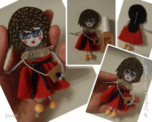 Очень модный тренд сезона куколки - брошки ручной работы. фото 2