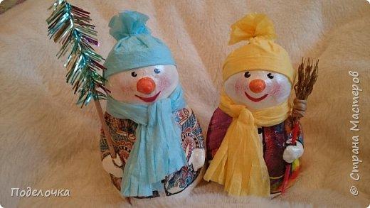 Снеговички на ёлку  фото 1