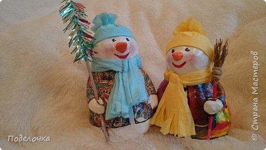 Снеговички на ёлку  фото 5