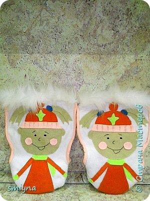 Муфты - Варежки на санки для дочек. фото 1