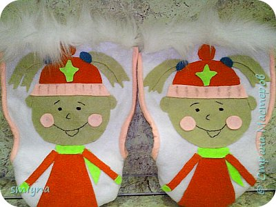 Муфты - Варежки на санки для дочек. фото 2