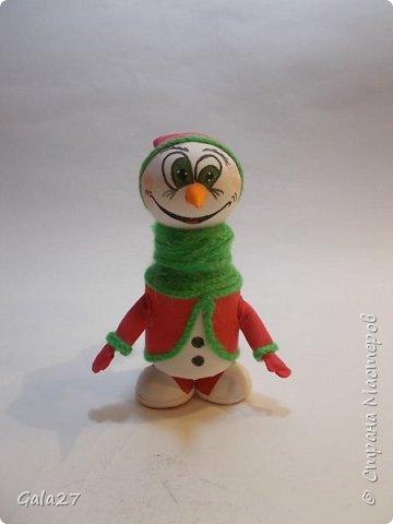 Снеговик с секретом сделан по МК Евгении Романовой фото 1
