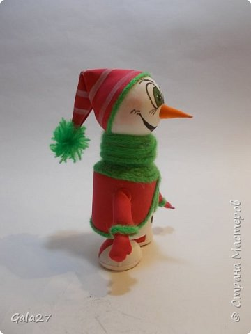 Снеговик с секретом сделан по МК Евгении Романовой фото 2