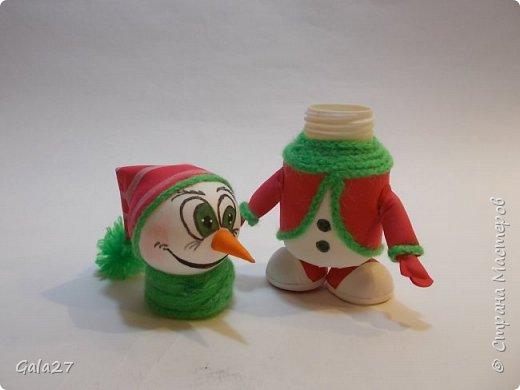 Снеговик с секретом сделан по МК Евгении Романовой фото 3